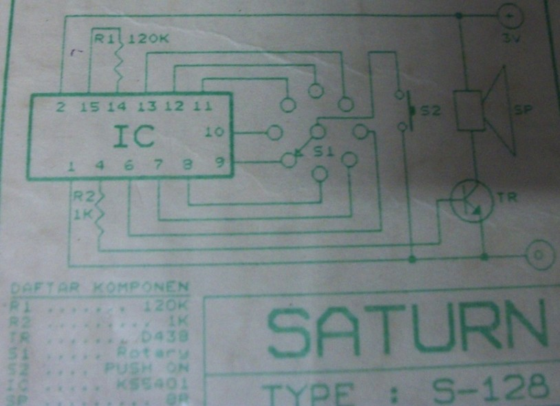 Eight Sound Effects Generator Circuit Electronic