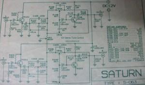 12V Stereo Tone Control circuit diagram