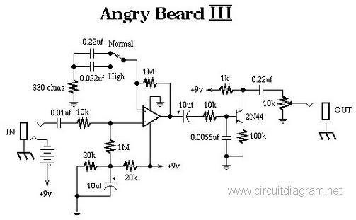 Angry Beard III Electric Guitar Effect Circuit Electronic