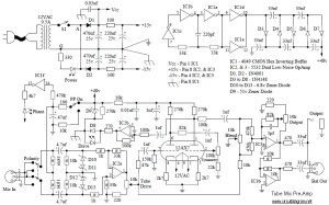 Tube Mic Pre-Amp circuit diagram