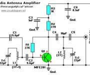 FM Receiver Antenna Amplifier