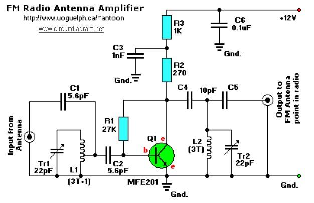 FM Radio Antenna Booster Circuit Diagram