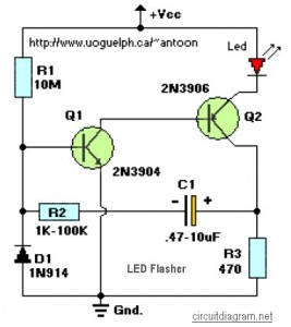 Easy LED Flasher Schematic