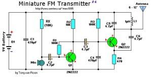 9V mini fm transmitter
