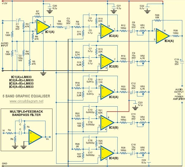 5-band-Graphic-Equaliser  Band Equalizer Schematic on car audio 31, w2ihy 2,