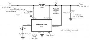 dc to dc voltage converter 5v to 12v LM2586