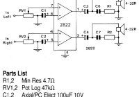 1W stereo Headphone Amplifier circuit TDA2822