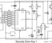 Electronic Door Lock Security Key