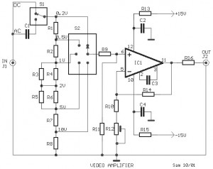 Video Amplifier based LH0032 circuit