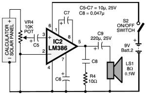 laser communication - receiver circuit diagram
