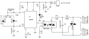 200W Lamp Flasher Circuit Diagram