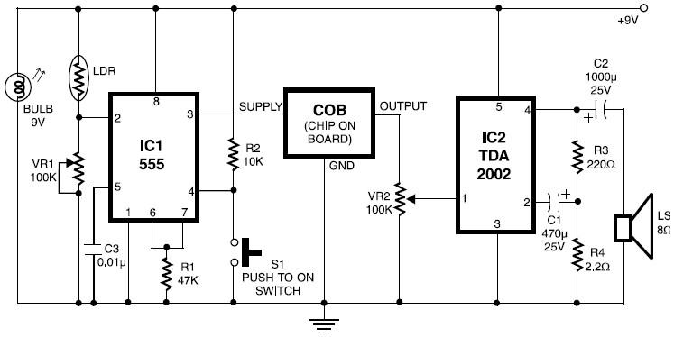 fire alarm with ldr sensor