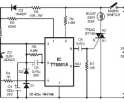 220V AC Lamp Touch Dimmer