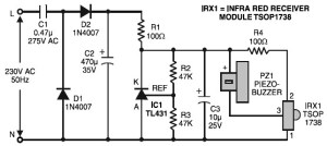 Remote Control Tester Circuit Diagram