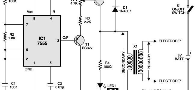 Muscular stimulator circuit
