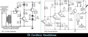 ir cordless headphone circuit diagram
