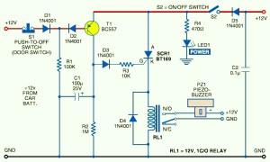 Car Anti Theft Guard Circuit Diagram