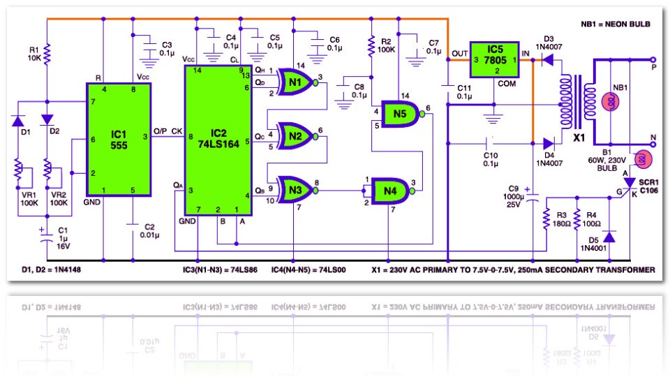 Electronic candle circuit electronic