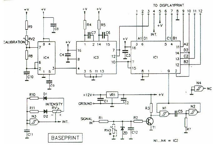 digital tachometer rpm meter schematic design digital tachometer front display scheme