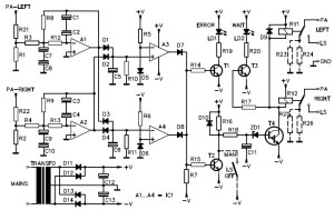 Stereo Speaker Protection Circuit