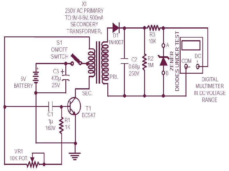 Diode Zener Tester Circuit Diagram
