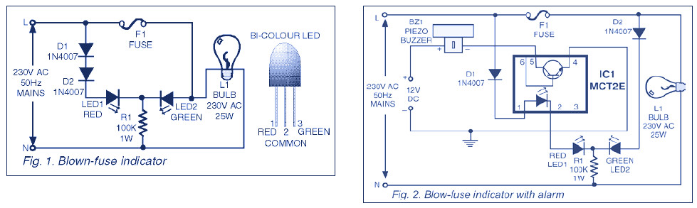 draw your wiring 220v fuse circuit diagram rh drawwiring blogspot com Blown Fuse Indicator DC Indicator 1D Fuses Fln100