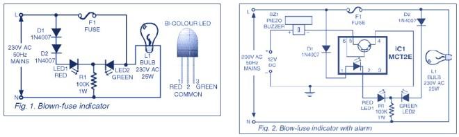 Blown Fuse Indicator Circuit Diagram