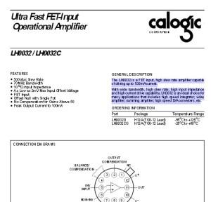 L0032 Datasheet Document