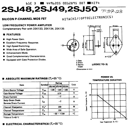 2SJ48, 2SJ49, 2SJ50 Datasheet Preview