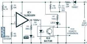 Simple and Low Cost Dew Sensor