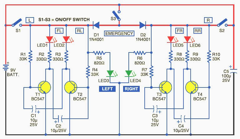 Bicycle Directional Lights  Schematic Design