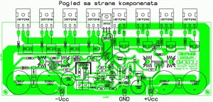 250W RMS Power Amplifier Legend Stage Master  Schematic