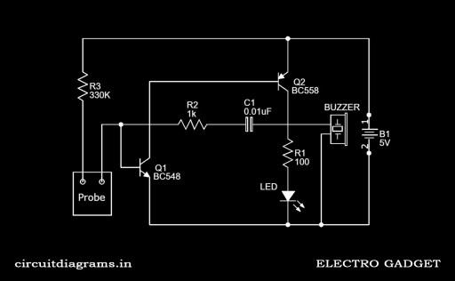 rain alarm circuit