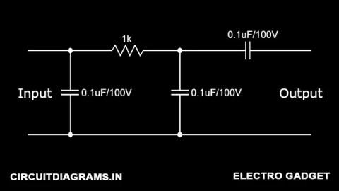 4558 ic low pass filter circuit