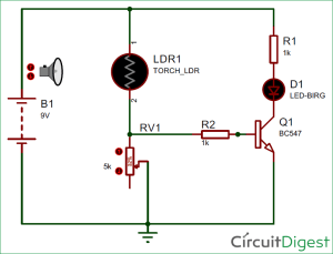 Simple LDR Circuit to Detect Light