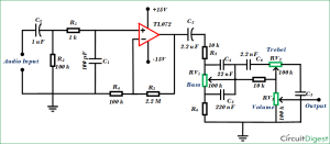 Simple Audio Tone Control Circuit Diagram