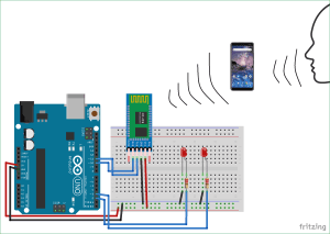 Arduino Based Voice Controlled LEDs using Bluetooth