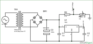 Electronic Circuit Breaker Schematic Diagram