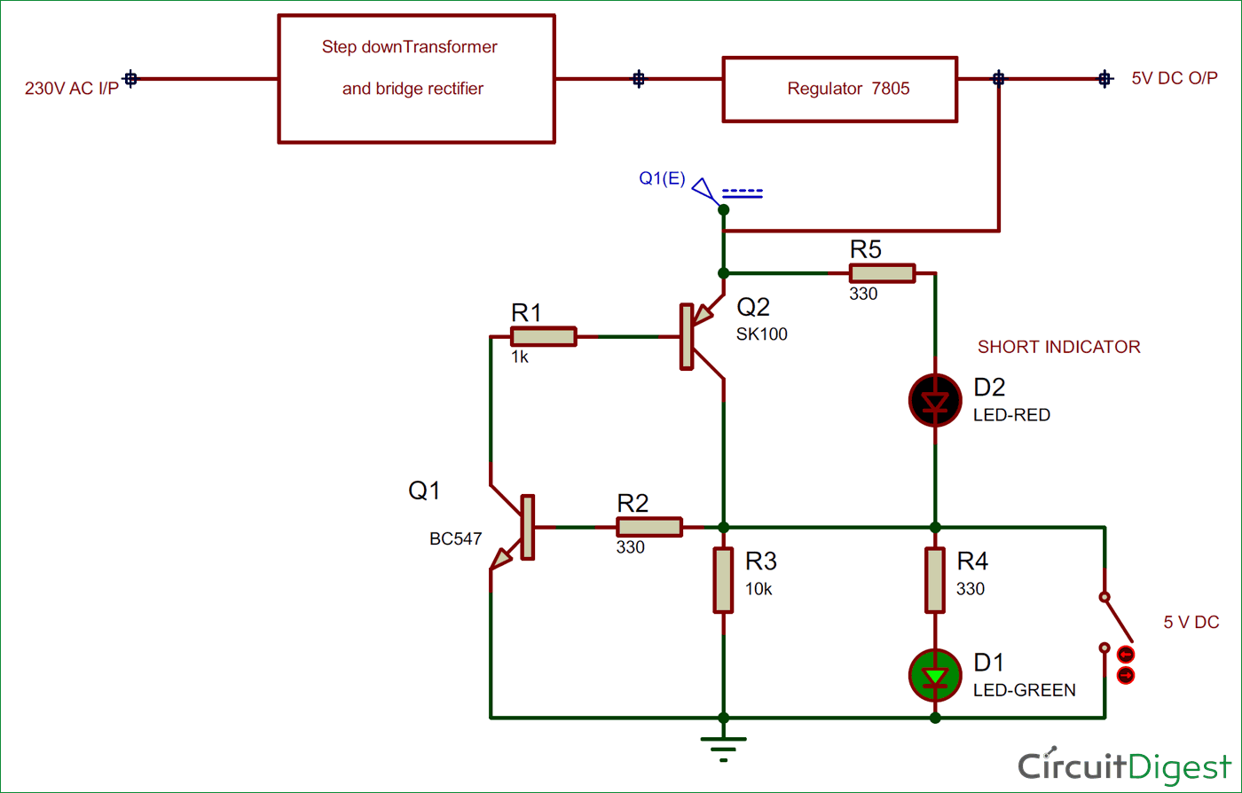 Short-Circuit Protection Circuit Diagram