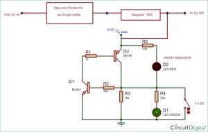 ShortCircuit Protection Circuit Diagram