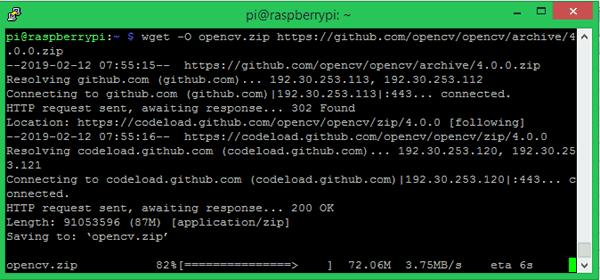 Download OpenCV on Pi