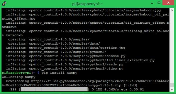 OpenCV Installed on Raspberry Pi
