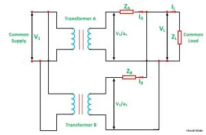 Parallel Operation of a Single Phase Transformer  Circuit