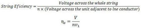 string efficiency formula