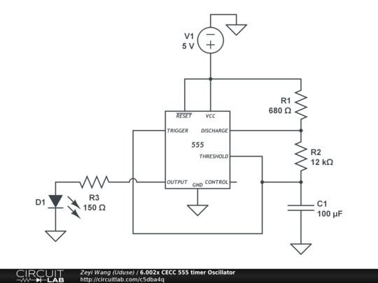 6.002x CECC 555 Timer Oscillator