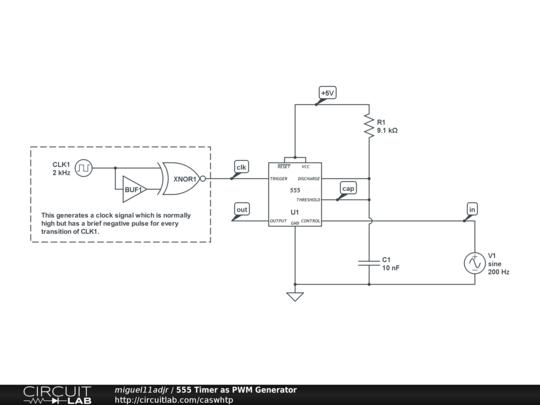 555 Timer As PWM Generator