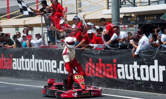 Bahraini team Batelco power to victory in the Battery 24 Hours at Dubai Kartdrome