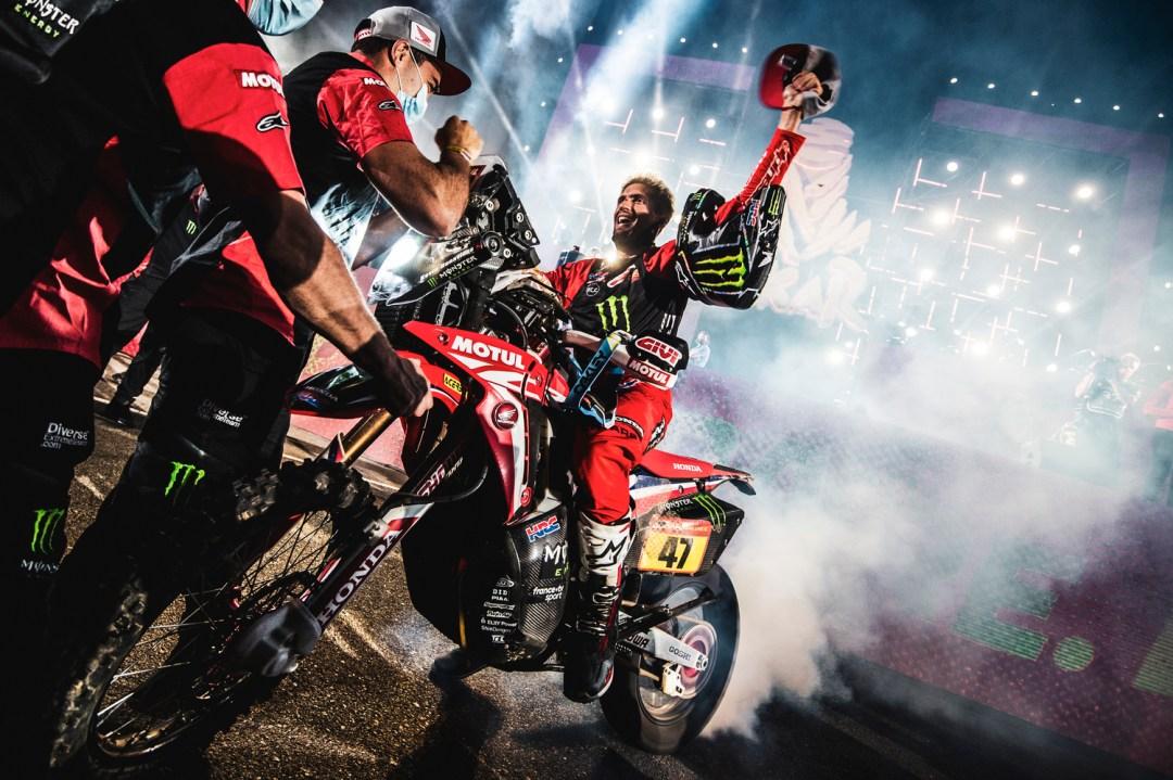Dakar 2021 - 15/01/21 - Podium Finish - Jeddah - Kevin Benavides 47ASO / C. Lopez