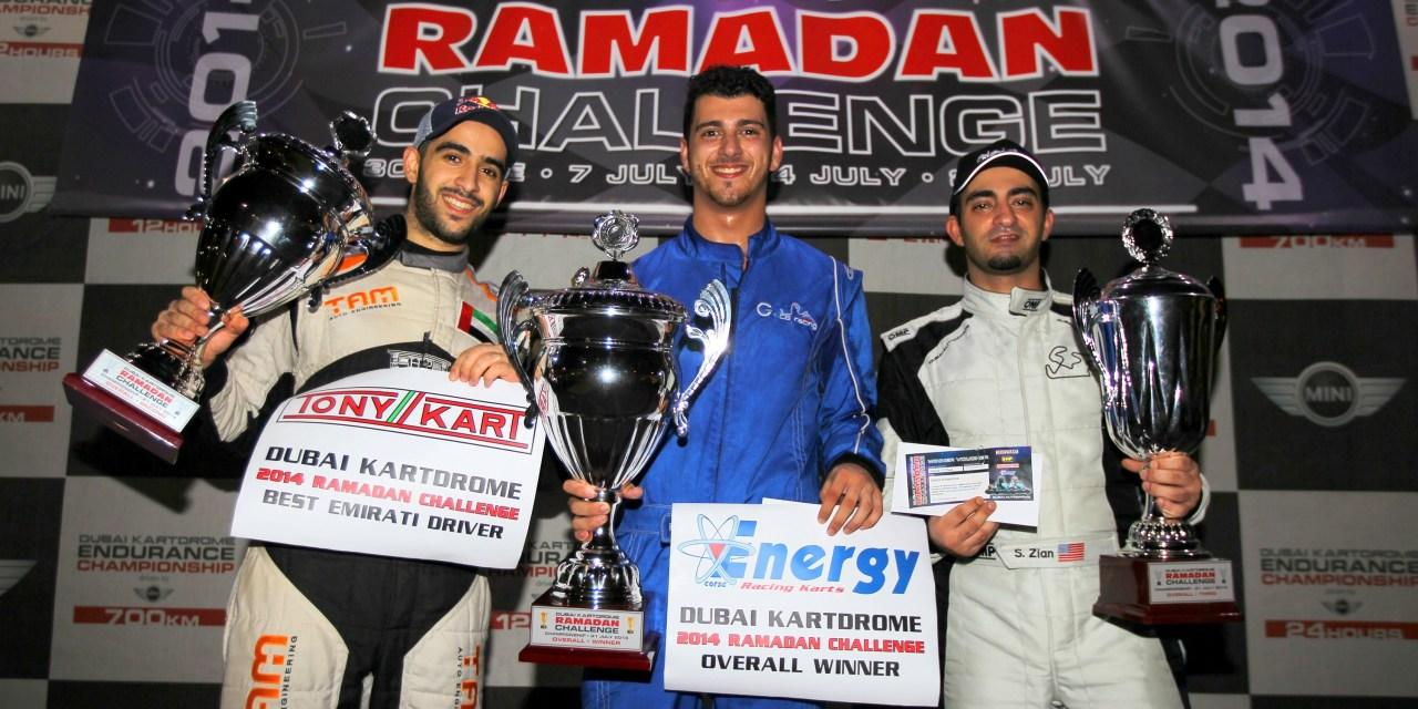 Karting: Rami Azzam is the 2014 Ramadan Challenge Champion at Dubai Autodrome