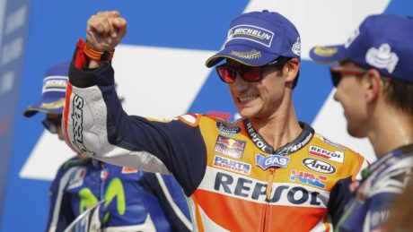 Pedrosa becomes eighth different winner in 2016 after an unbelievable charge through the field